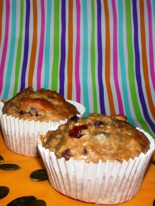 Frühstücksmuffins mit Cranberries