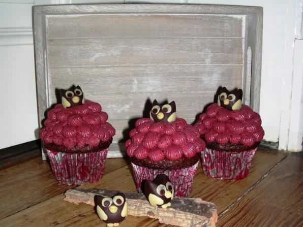 Brombeer-Minz-Cupcakes