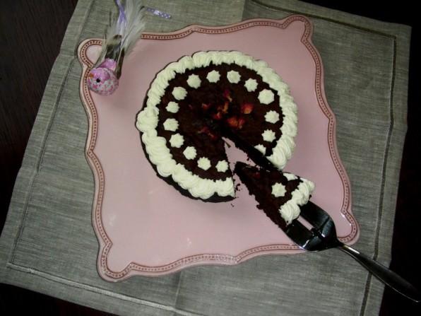 Nougat-Auberginen-Kuchen
