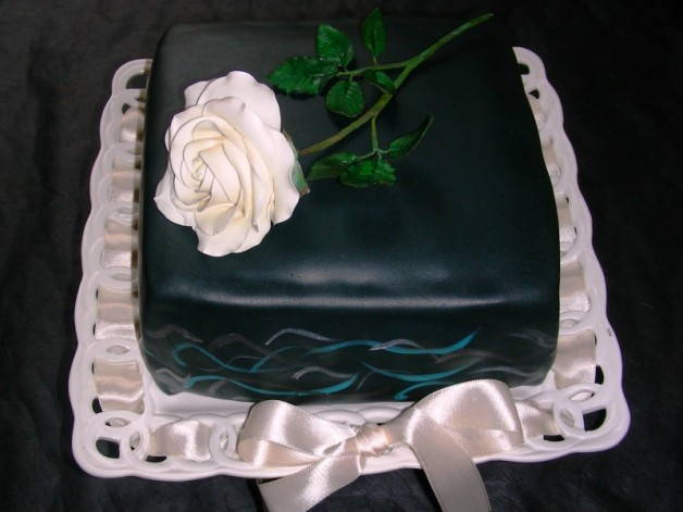 Torte mit Rose