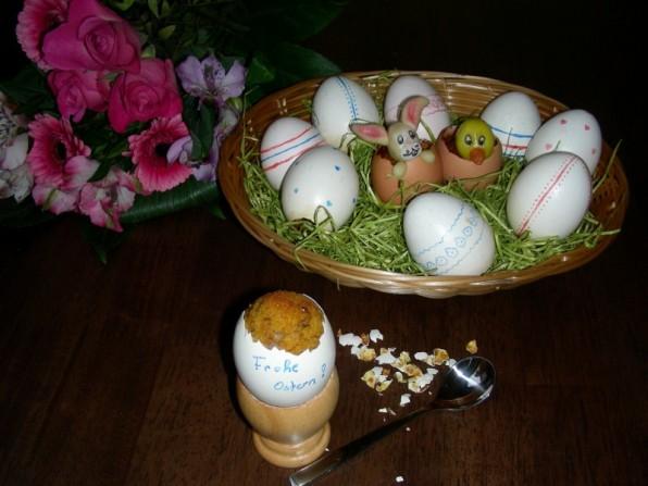 Karottenkuchen im Ei