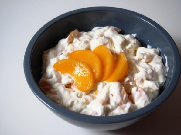 Pfirsich-Sahnecreme für Pfirsichtorte