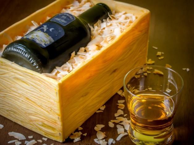 Whisky- bzw. Weinkisten-Torte mit Video-Anleitung