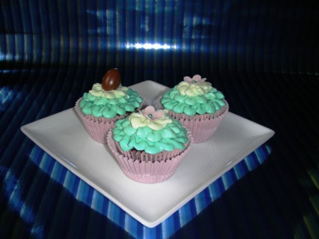 Schokocupcakes mit Milchcreme