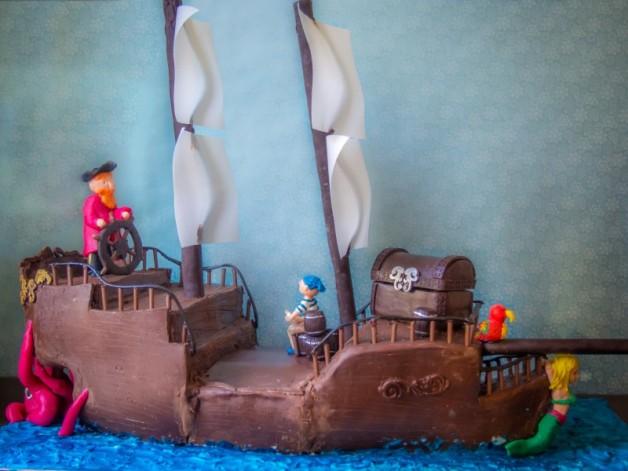 Piratentorte zum Kindergeburtstag